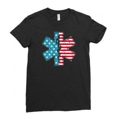 Ems Usa Ladies Fitted T-shirt Designed By Gurkan