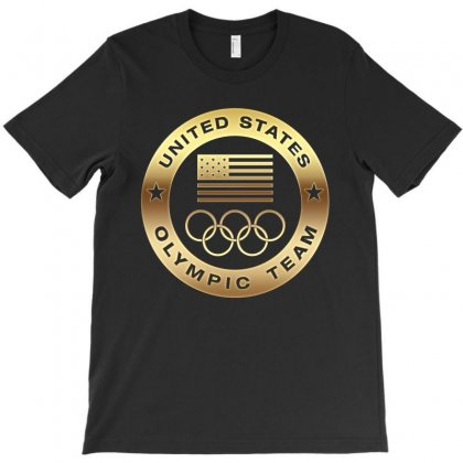 United States Olympic Team Gold T-shirt Designed By Honeysuckle
