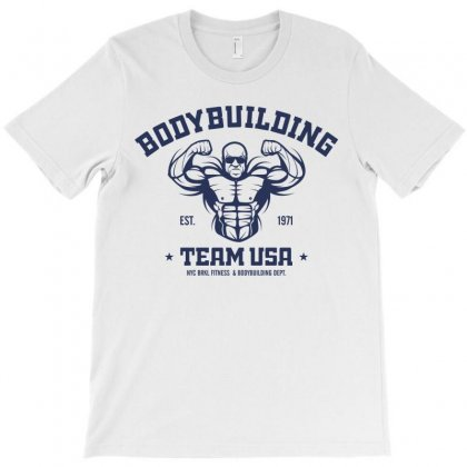 Bodybuilding Fitness Gym T-shirt Designed By Designisfun