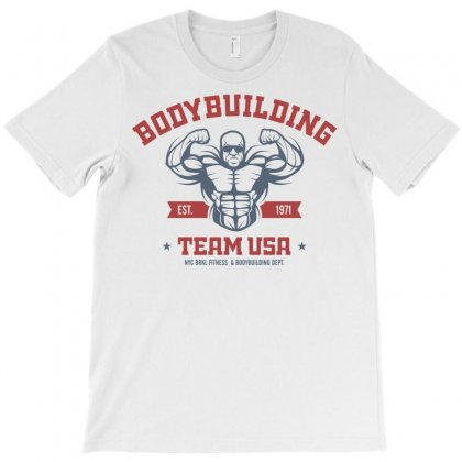 Usa Bodybuilding Fitness T-shirt Designed By Designisfun