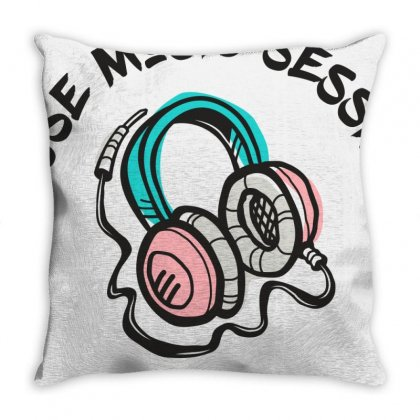 House Music Sessions Throw Pillow Designed By Designisfun