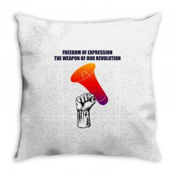 freedom of expression the weapon of our revolution Throw Pillow | Artistshot