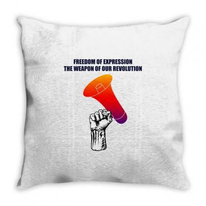 Freedom Of Expression The Weapon Of Our Revolution Throw Pillow Designed By Mircus