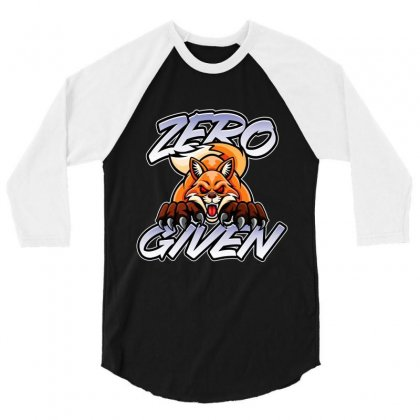 Zero Fox Given 3/4 Sleeve Shirt Designed By Tiococacola