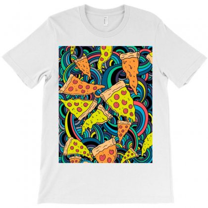Pizza Pattern T-shirt Designed By Salmanaz