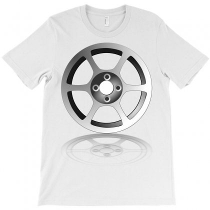 Car Wheel Chrome Rim T-shirt Designed By Salmanaz