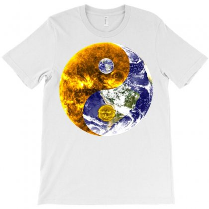 Design Yin Yang Balance Sun Earth T-shirt Designed By Salmanaz