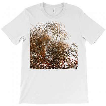Digitally Painted Colourful Winter Branches Illustration T-shirt Designed By Salmanaz