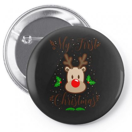 My First Chrismas Pin-back Button Designed By S4bilal