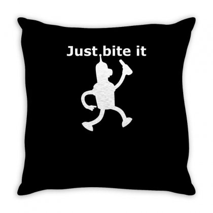Funny Just Bite It Throw Pillow Designed By Milamaftah