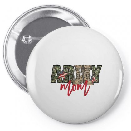 Army Mom Pin-back Button Designed By Badaudesign