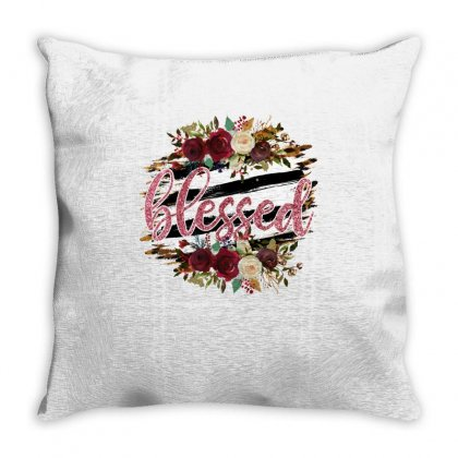 Blessed Throw Pillow Designed By Badaudesign