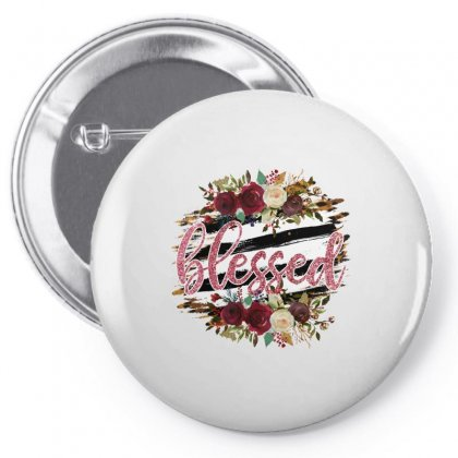 Blessed Pin-back Button Designed By Badaudesign