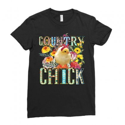 Country Chick Ladies Fitted T-shirt Designed By Badaudesign