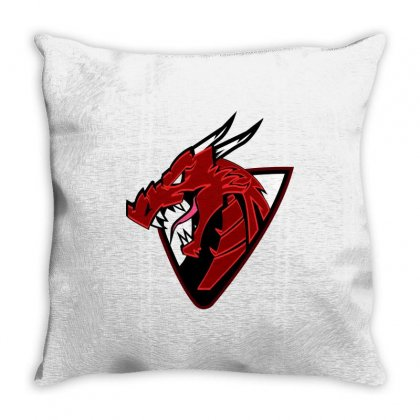 The Red Dragn Throw Pillow Designed By Hassan_am