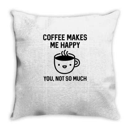 Coffee Makes Me Happy...ok Throw Pillow Designed By Hoainv