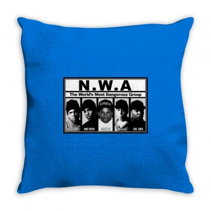 Gangsta N.w.a Throw Pillow Designed By Hiphopshop786
