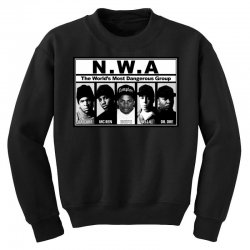 GANGSTA N.W.A Youth Sweatshirt | Artistshot