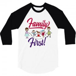 Family first 3/4 Sleeve Shirt | Artistshot