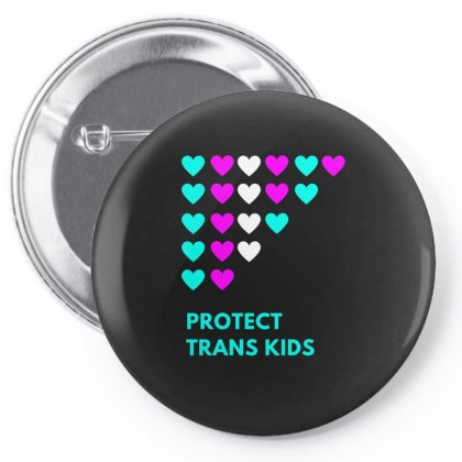 Protect Trans Kids  Hearts Premium Pin-back Button Designed By Artdesigntest