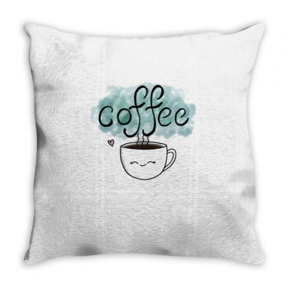 Cute Coffee Cup Throw Pillow Designed By Hoainv