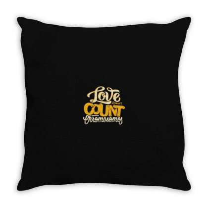 Love Doesn't Count Chromosomes Throw Pillow Designed By Mr_ali143