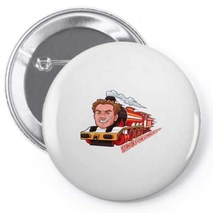 Stay Off The Tracks Vintage Pin-back Button Designed By Artdesigntest
