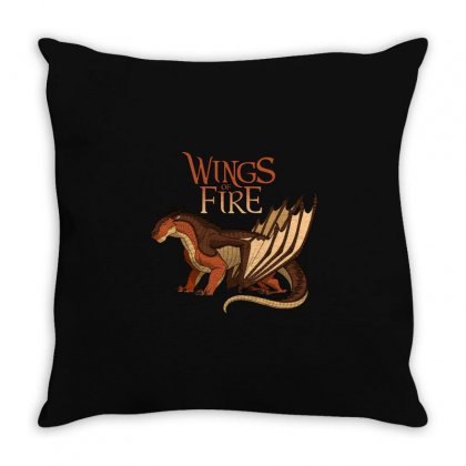 Clay Wings Of Fire Throw Pillow Designed By Rakuzan