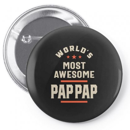 Mens World's Most Awesome Pap-pap Father Gift Pin-back Button Designed By Cidolopez