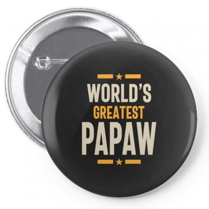 Mens World's Greatest Papaw Father Grandpa Gift Pin-back Button Designed By Cidolopez