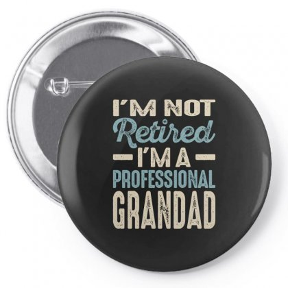 Mens Professional Grandad Retirement Gift Pin-back Button Designed By Cidolopez
