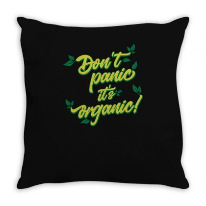Dont Panic Throw Pillow Designed By S4bilal