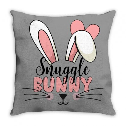 Snuggle Bunny Throw Pillow Designed By Gurkan