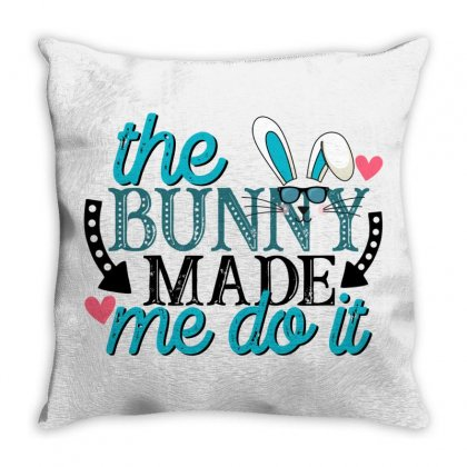 The Bunny Made Me Do It Throw Pillow Designed By Gurkan