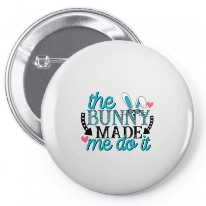 The Bunny Made Me Do It Pin-back Button Designed By Gurkan