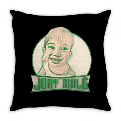 Just Smile Throw Pillow Designed By Idealist-003
