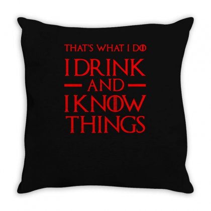 I Drink And I Know Throw Pillow Designed By S4bilal
