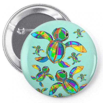 Seaturtle Baby Fabric Toy Pin-back Button Designed By Thechameleonart