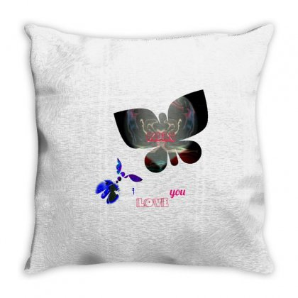Amour Papillons Throw Pillow Designed By Oranista