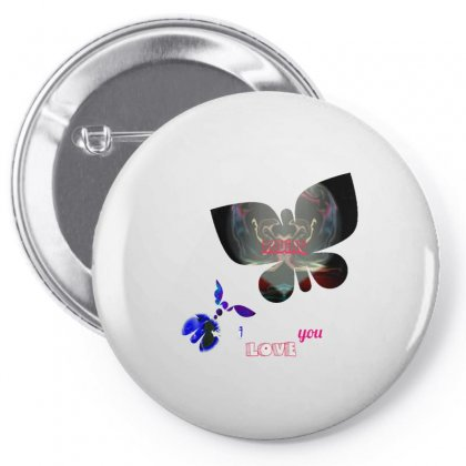 Amour Papillons Pin-back Button Designed By Oranista