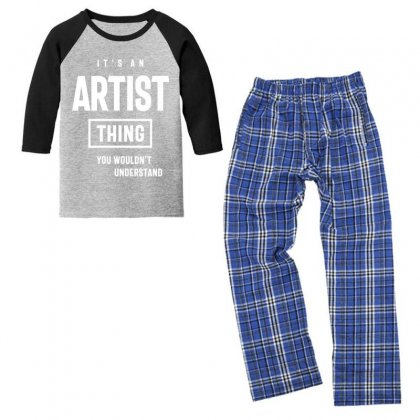 It's An Artist Thing Job Title Gift Youth 3/4 Sleeve Pajama Set Designed By Cidolopez