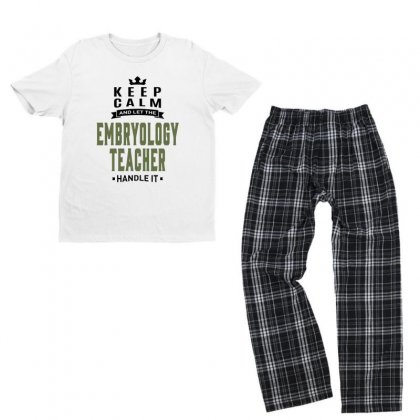 Embryology Teacher Youth T-shirt Pajama Set Designed By Chris Ceconello