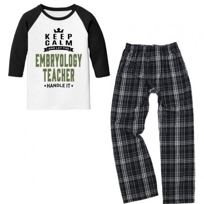 Embryology Teacher Youth 3/4 Sleeve Pajama Set Designed By Chris Ceconello
