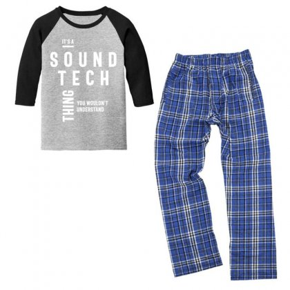 It's A Sound Tech Thing Job Title Gift Youth 3/4 Sleeve Pajama Set Designed By Cidolopez