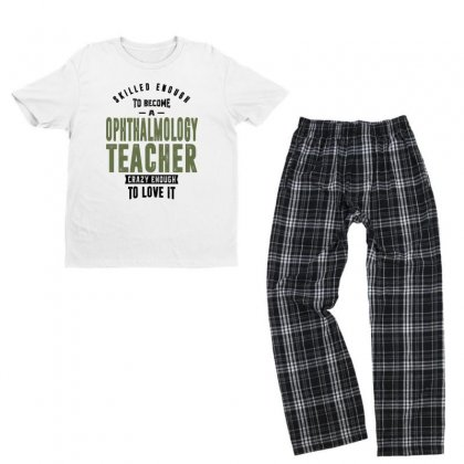 Ophthalmology Teacher Youth T-shirt Pajama Set Designed By Chris Ceconello