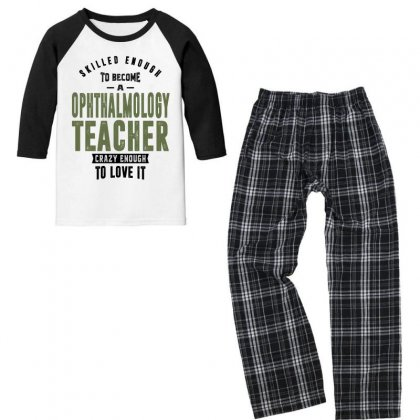 Ophthalmology Teacher Youth 3/4 Sleeve Pajama Set Designed By Chris Ceconello