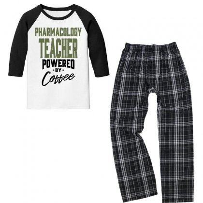 Pharmacology Teacher Youth 3/4 Sleeve Pajama Set Designed By Chris Ceconello