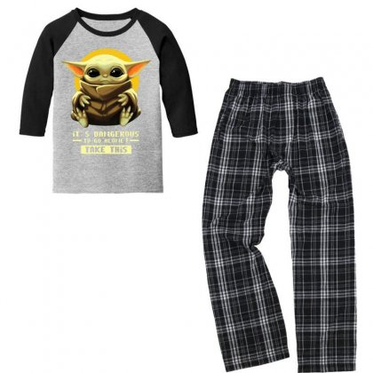 Alone Take It Youth 3/4 Sleeve Pajama Set Designed By Just4you