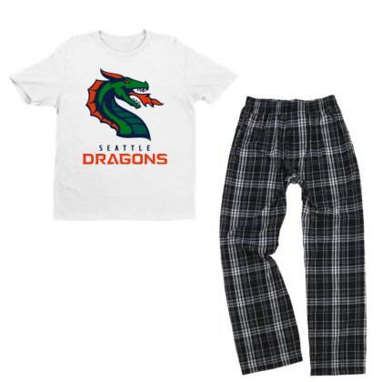 Awesome Dragons Youth T-shirt Pajama Set Designed By Just4you