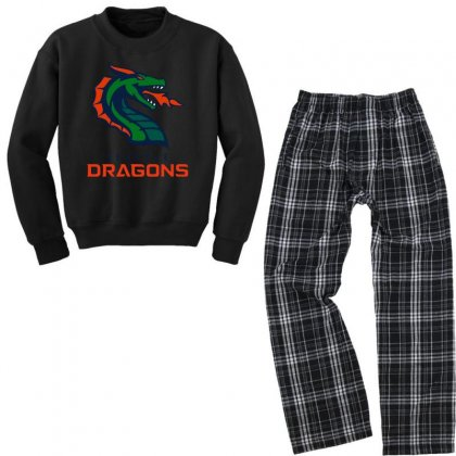 Awesome Dragons Youth Sweatshirt Pajama Set Designed By Just4you